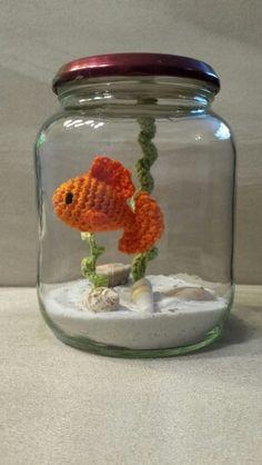 Visje in aquarium ( gratis patroon van amigurumihaaksels.blogspot.nl)
