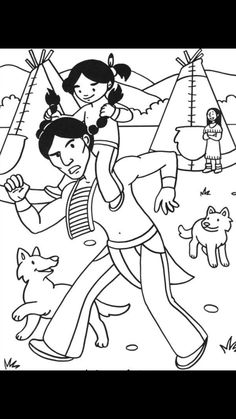 Les coloriages d'indiens * 1500 free paper dolls at international artist Arielle Gabriels The International Paper Doll Society also free Chinese paper dolls The China Adventures of Arielle Gabriel * Native American Crafts, American Indian Art, American Indians, Colouring Pages, Coloring Sheets, Coloring Books, Indian Theme, Indian Party, Aboriginal Art For Kids