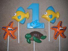 1 chocolate under the sea shark 3x4 number favors lollipops lollipop   sapphirechocolates - Edibles on ArtFire