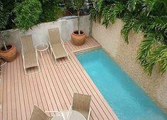 Belebende Gartengestaltung und terrassengestaltung mit kleinemTauchbecken zum Entspannen