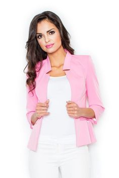 Judy jacket in light pink Fashion Addict, Fashion Boutique, Outfit Of The Day, Street Wear, Jackets For Women, Kimono, Street Style, Blazer, Stylish