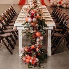Did you have a romantic dinner for Valentines Day? I've decided mini balloon garlands are my new favorite table runners, especially when… Balloon Table Decorations, Balloon Centerpieces, Diy Party Decorations, Balloon Ideas, Balloons Galore, Mini Balloons, Wedding Balloons, Thanksgiving Table Settings, Christmas Table Settings