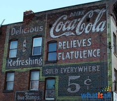 Drink Coca~Cola, Relieves Flatulence, ghost sign