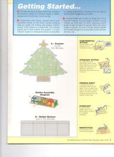 CHRISTMAS TREE COASTERS 3/3 Plastic Canvas Stitches, Plastic Canvas Coasters, Plastic Canvas Ornaments, Plastic Canvas Tissue Boxes, Plastic Canvas Crafts, Plastic Canvas Patterns, Christmas Coasters, Christmas Crafts, Christmas Patterns
