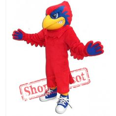 New Parrot Cardinal Mascot Costume Adult Size Prof Made