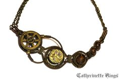 Steampunk Necklace by CatherinetteRings.deviantart.com on @deviantART