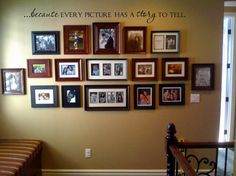 I love family picture frames and this is what I want for a wall in my future home. Family Pictures On Wall, Family Picture Frames, Picture Wall, Photo Wall, Family Photos, Framed Pictures, Hanging Pictures, Picture Ideas, Photo Ideas