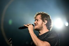 Dan Reynolds performs on stage at Saddledome Arena on June 5, 2015 in Calgary, CA.