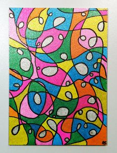 Neon Abstract Glitter Colorful Design by MangaSketch