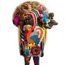 """nick cave's elaborate soundsuits are now on show at the cincinnati art museum in cincinnati, ohio, USA until april 29th, 2012   """"the artist has been creating intricate wearable sculptures for nearly twenty years"""""""