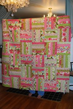 super easy 6x6x6 quiltuploaded by user. Gorgeous fabrics and colors!
