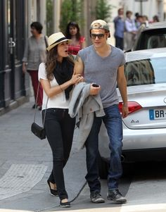 Paul Wesley takes a romantic walk around Le Marais and Musee de la Pouupee with his wife Torrey DeVitto