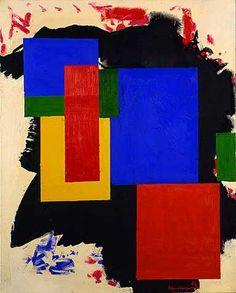 """Hearld, 193 Hans Hofmann 72 1/4"""" x 60 1/8"""" oil on canvas"""
