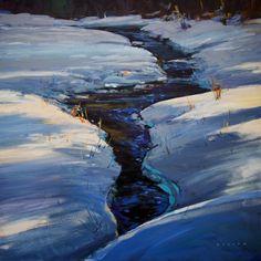 "'A Whistler Creek' 24"" x 24""  Acrylic on Canvas by Artist Charlie Easton"