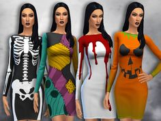 This is my little contribution to Halloween!  Found in TSR Category 'Sims 4 Female Everyday'