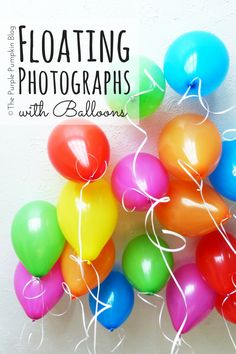This idea is brilliant for milestone birthday celebrations! Attach photographs to helium balloons - maybe one for every year?