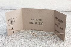 Tying the Knot Save the Date set of 25 handmade by me Kraft Save the Date Rustic Save the Date Gatefold Save the Date Knot Save the Date #Etsy #Share #AyuJewelryShare #EtsyShop #MSMTeam