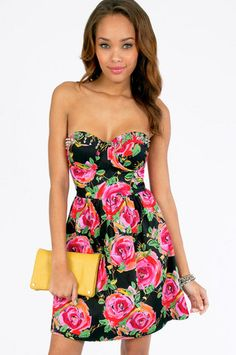 Reverse Cammie Spiked Floral Dress $60 at www.tobi.com