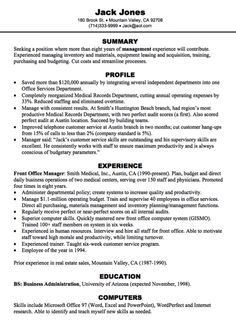 Front Office Resume Letter Of Resignation  Httpexampleresumecvletter .