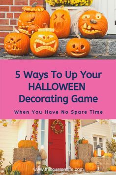 5 Ways to Improve Your Halloween Decorating Game When Y - Porch Decorating Ideas Cute Halloween Decorations, Halloween Banner, Halloween Season, Holidays Halloween, Halloween Crafts, Halloween Ideas, Pumpkin Decorating, Porch Decorating, Decorating Ideas