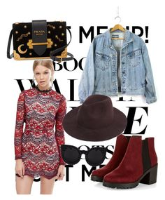 """""""Chelsea Boots"""" by ouztskristen ❤ liked on Polyvore featuring Love & Other Things, Delalle and Prada"""