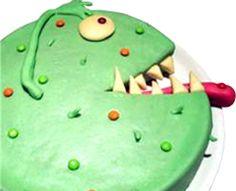 Un gâteau rigolo qui se prend pour un monstre à faire frémir de plaisir les enfants! Une idée originale qui consiste à retirer une part au gâteau pour en faire...