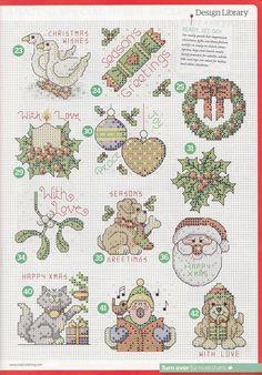 Nattys cross stitch corner: 50 Small Christmas Motifs.