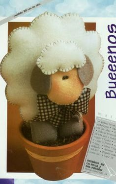 FREE Cute Sheep or Lamb Felt Plushie Toy Sewing Pattern / Template