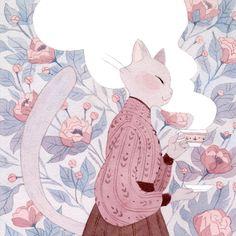 Character Art, Character Design, Illustration Art, Illustrations, Cat Drawing, Pretty Art, Furry Art, Cat Art, Animal Drawings