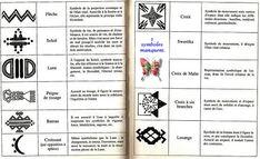 Berber tattoo symbols
