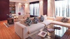 2013 Elegant Stylish Living Room and Dining Room Combo