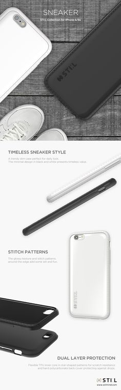 SNEAKER - Timeless basic sneakers, perfect for everyday look. Available in White, Black #STILCase #Sneaker #Sneakers #Pavis #STIL #STILCase #STILmobilecase #iPhone6S #iPhone6Scase #designcase #fashionitem #phonecase #mobilecase #STILmind #2015fw #2015collection