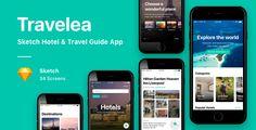 Travel Guide App, Journey Journey, Splash Screen, Adobe Xd, Portfolio Website, Ui Kit, Ios App, Wasting Time, App Design