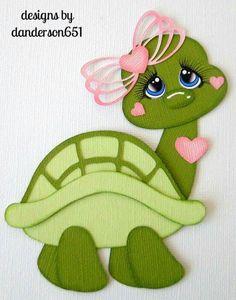 Halloween Paper Piecing Premade 4 Border Scrapbook Album Danderson 651 for sale online Foam Crafts, Diy And Crafts, Crafts For Kids, Arts And Crafts, Paper Crafts, Cute Turtles, Baby Scrapbook, Paper Piecing, Baby Quilts