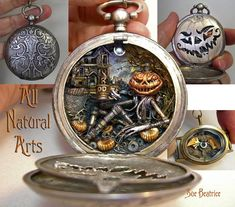 Steampunk Pocket Watch Jewelry by All Natural Arts