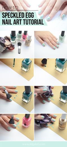 NAIL ART HOW TO: SPECKLED EGGS FOR EASTER