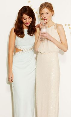 Tyler Maxi (£195) and Cosmo Maxi Dress (£195)