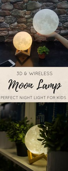 I love this Moon Lamp! It looks so real / 3D printing / Night Light / Wedding Gift / Gift for Her / / home decor / 3D moon light / decor ideas / home decor ideas #moonmagic #ad #decoration #3dprintingideas