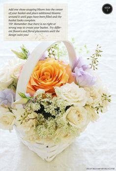 DIY Flower-Filled Flower Girl Baskets with Flower Muse