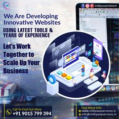 Milkyway Infotech is a leading Web Development Service Provider Company in Noida where developers with years of experience use the latest tools to design and develop world-class websites. Scale up our business faster with Milkyway Infotech's services. . . #development #websitedevelopment #webdevelopment #website #websitedesign #webdesign #developer #designing #technology #ecommerce #creative #design #software #milkywayinfotech #startup #business #digitalmarketing #socialmedia Mobile App Development Companies, Web Development, Innovative Websites, Parallax Website, Android Developer, Web Design, Creative Design, Digital Marketing, Innovation