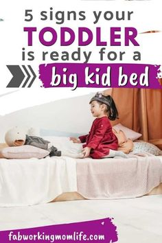 5 signs your toddler is ready for a big kid bed - Is your toddler climbing out of their crib? Are you worrying about transitioning to toddler bed at 18 months? If you want to know how to transition to toddler bed and how to keep toddler in their bed read on for new mom survival tips! #parenting #toddlers #toddlersleep #toddlerbed | Fab Working Mom Life Toddler Sleep, Baby Sleep, Toddler Girls, Parenting Toddlers, Parenting Advice, Parenting Memes, Toddler Preschool, Toddler Activities, Autistic Toddler