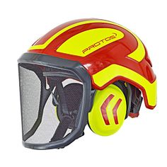 Protos Integral Arborist Helmet, red/yellow