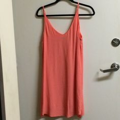 Topshop dress Salmon colored dress worn once in fantastic condition Topshop Dresses