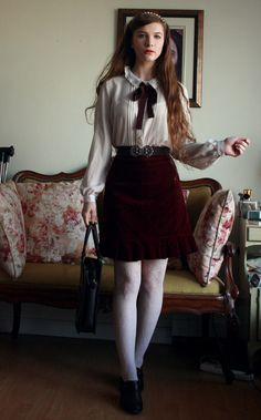 Work outfit (no, I have no idea where that wind effect comes from even though my windows are closed…)