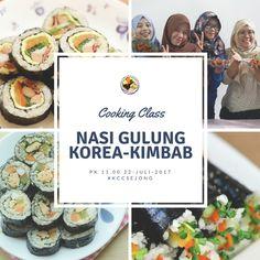 Cooking Class Korea - Nasi Gulung Korea Kimbab 김밥 KCC Sejong Jogja