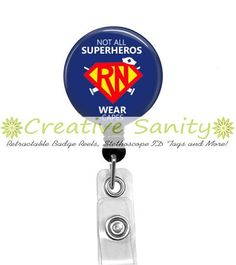 Nurse Retractable ID Badge Reel Not All by CreativeSanity on Etsy