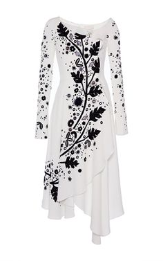 Embroidered Leaf Print Asymmetrical Dress by PETER PILOTTO for Preorder on Moda Operandi