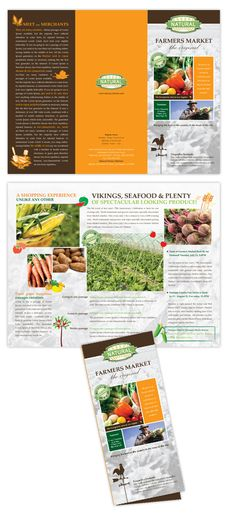 This is a great layout, with lots of information. Brochure Design, Brochure Template, Flyer Design, Free Brochure, Microsoft Word Free, Leaflet Design, Farmers Market, Booklet, Clover Field