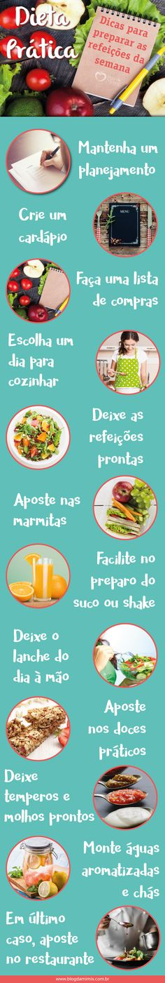 Dieta prática: dicas para preparar as refeições da semana