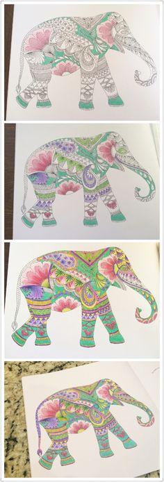 Animal kingdom coloring book~ love this elephant !